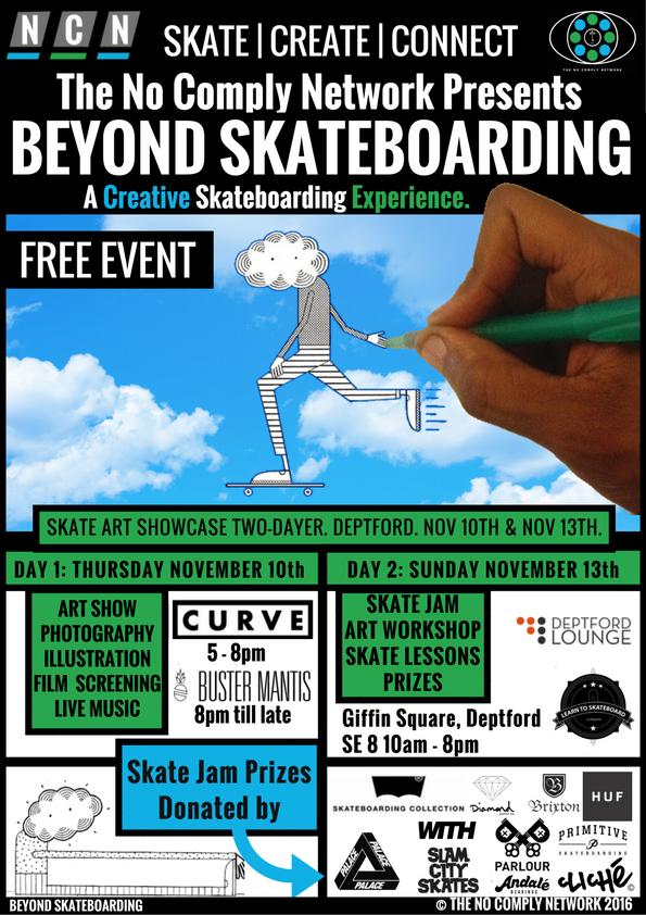 Beyond Skateboarding Feature Flyer